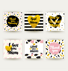 happy mothers day trendy postcards vector image