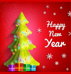 Happy new year festive poster vector