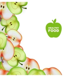 Healthy Food Slice of Apple Background vector image