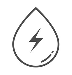 Hydropower outline icon element of enviroment vector