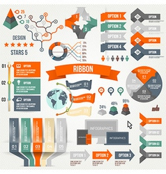 Infographics set with options vector image