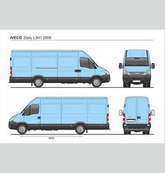 Iveco daily l3h1 2009 cargo delivery van vector