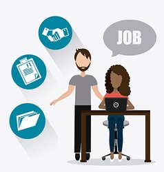 Job and work design vector image