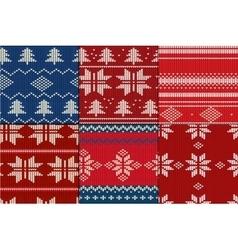 Knitting Pattern set vector