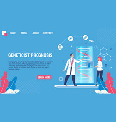 landing page offering geneticist prognosis service vector image