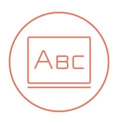 Letters abc on blackboard line icon vector