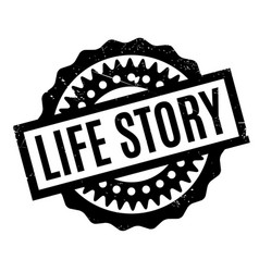 Life story rubber stamp vector