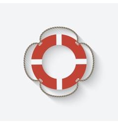 lifebuoy symbol vector image