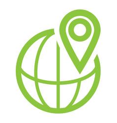 location globe icon isolated on white background vector image