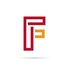 Logo F letter for company design template vector image