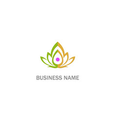 lotus flower beauty sign logo vector image