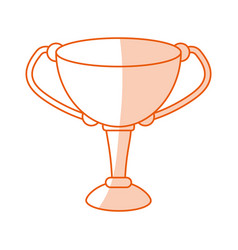 Monocromatic trophy design vector
