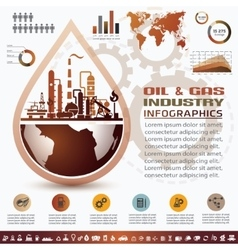 oil and gas industry infographics extraction vector image