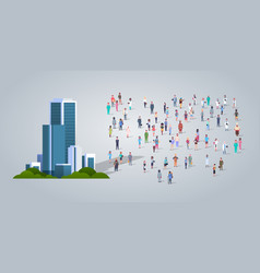 people group near modern office business center vector image