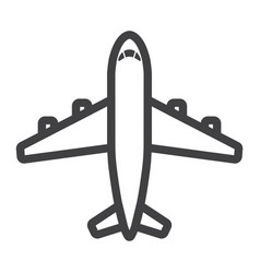 Plane line icon transport and air vehicle vector