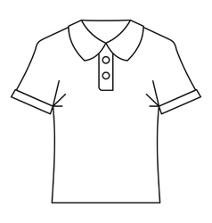 Polo shirt icon outline style vector