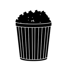Pop corn of fair food design vector image