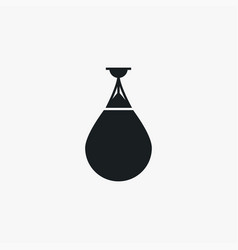 punching bag icon simple game element boxing vector image