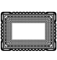 Rectangular Decorative Frame vector