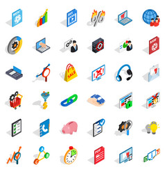 Safe cloud icons set isometric style vector