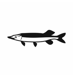 Saury icon simple style vector
