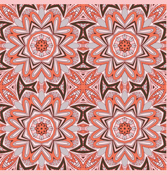 seamless doodle pattern ethnic motives grey and vector image