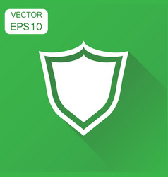 Shield defence icon business concept guard vector