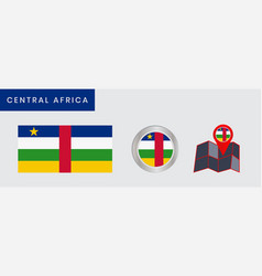 Simple central african flag is isolated vector