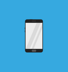 smartphone icon flat style vector image