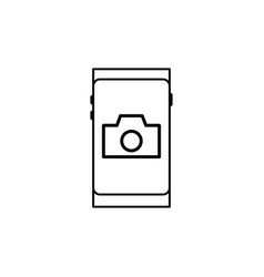 smartphone photo camera icon vector image