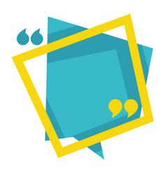speech bubble citation and quotation symbol vector image