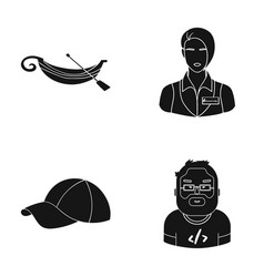 sport profession textiles and other web icon in vector image