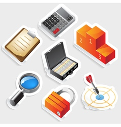 Sticker icon set for business and success vector