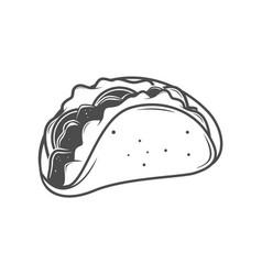Taco icon line art vector