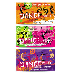 templates of dance party flyers vector image vector image