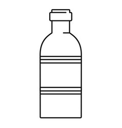 tomato bottle icon outline style vector image