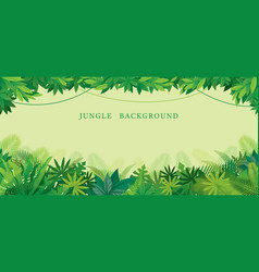 Tropical jungle frame vector