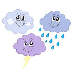 Various cute clouds vector