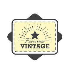 Vintage label design template for you logo vector
