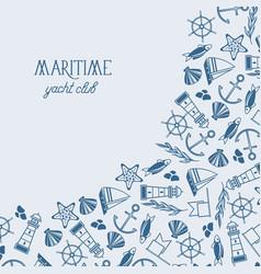 vintage maritime design background vector image