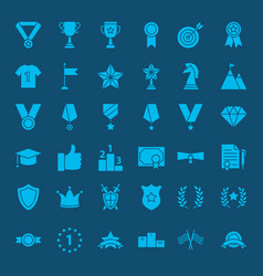 winning award glyph web icons vector image