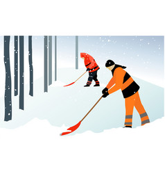 Winter issues vector