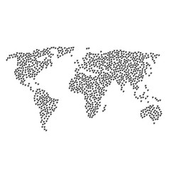 World map pattern of plugin icons vector