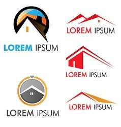 house symbol set vector image