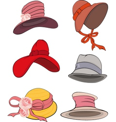 The complete set of female hats vector image vector image