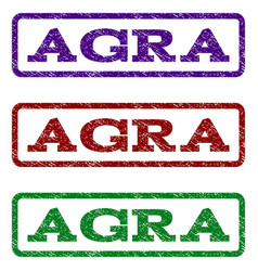 Agra watermark stamp vector
