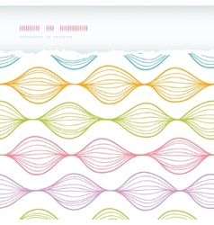 Colorful horizontal torn ogee seamless pattern vector image vector image