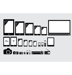 Electronic appliances vector image vector image