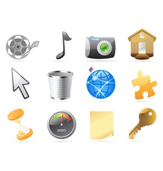 Icons for interface vector image vector image
