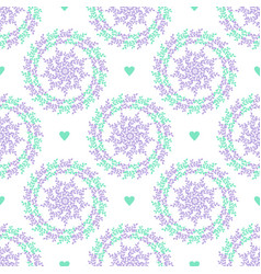 Pastel seamless pattern with nature circles and vector